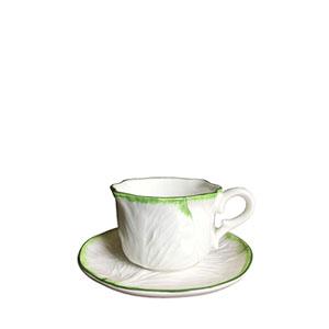tazza da thé cavolo verza staffato verde