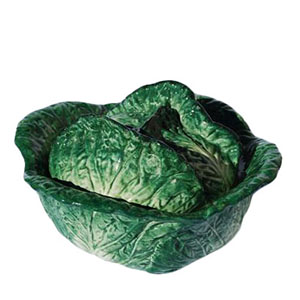 soup tureen savoy cabbage green